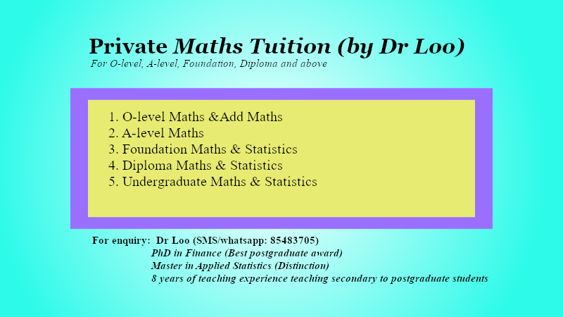 JC Math Tuition Singapore.