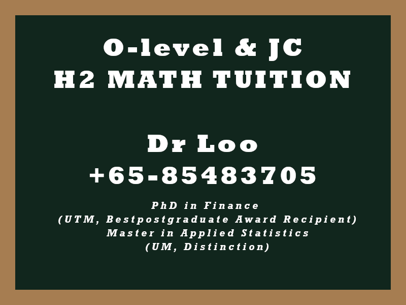 JC H2 Math Tuition in Singapore