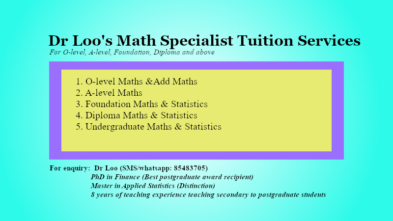 O-level Mathematics Home Tuition Singapore